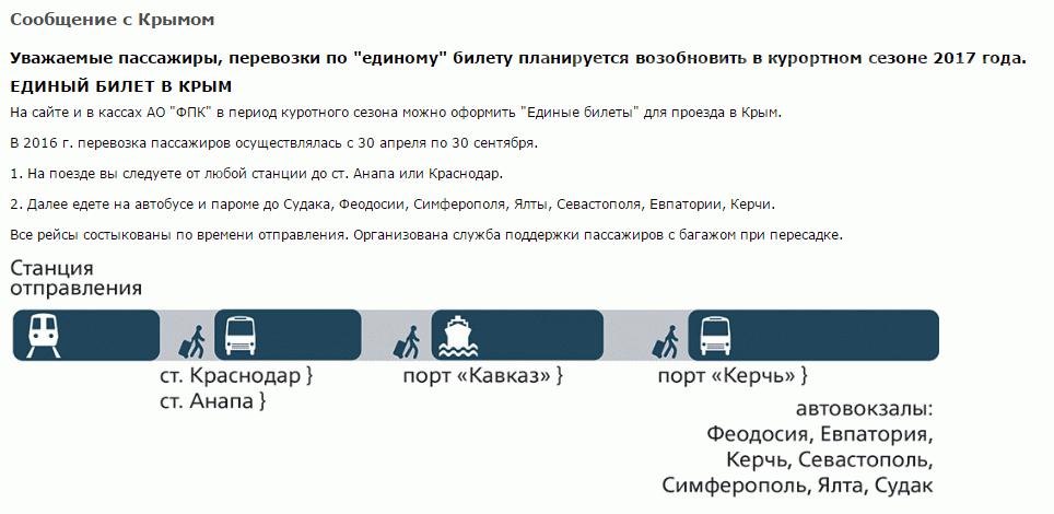 Единый авиабилет в крым 2019 купить цена